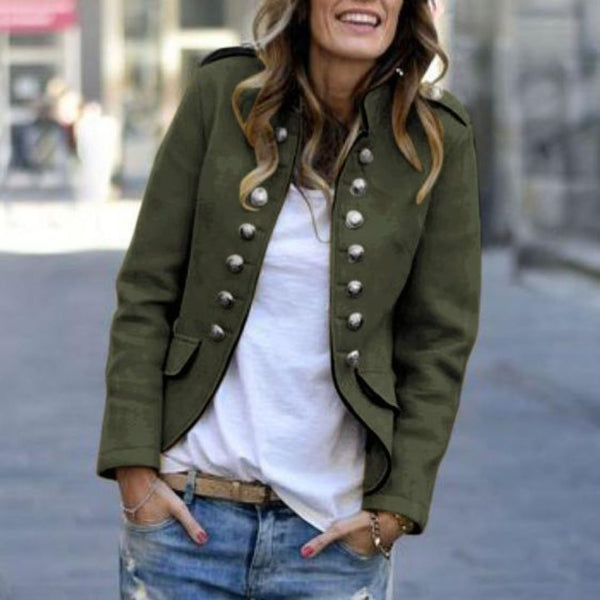 PMS Coats Same As Photo / s Fashion Pure Colour   Long Sleeve Coat