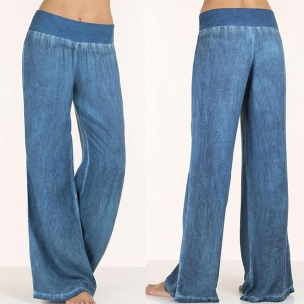 PMS Pants Blue / 4xl Elastic Waist  Patchwork Pants