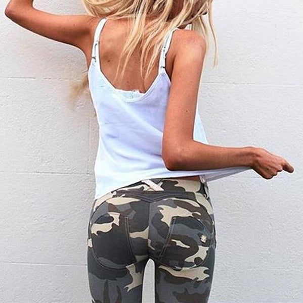 PMS Pants Camouflage / s Camouflage Pants With High Waist And Hip