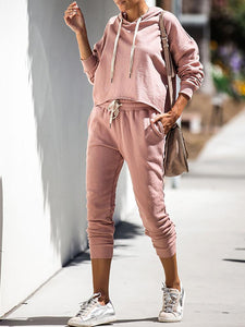 PMS Sweaters Women's Fashion Pink Sweater Set