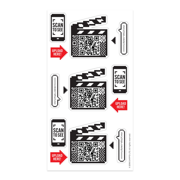 Movie Clapperboard Stickers