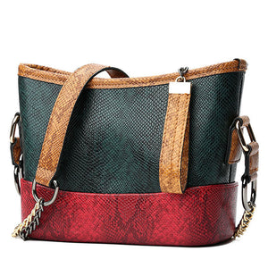 2019 NEW Fashion women Shoulder Bag PU leather serpentine pattern leather tote bag large capacity casual ladie shoulder bags