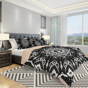 Black Mandala Bedding Set