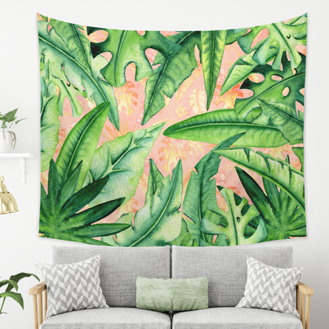 Tropical Wall Tapestry - Tropical Leaf Tapestry | Brandless Artist