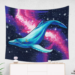 Space Whale Wall Tapestry - Brandless Artist