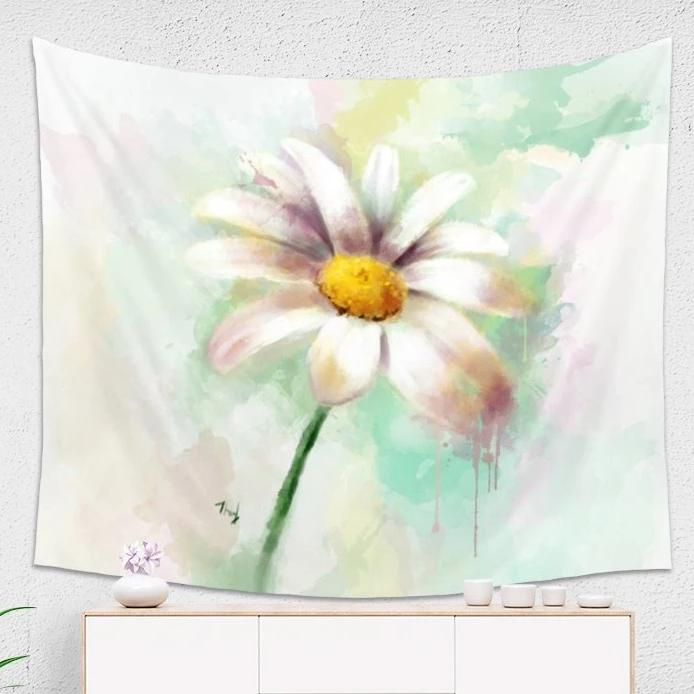 Watercolor Daisy Tapestry - Brandless Artist