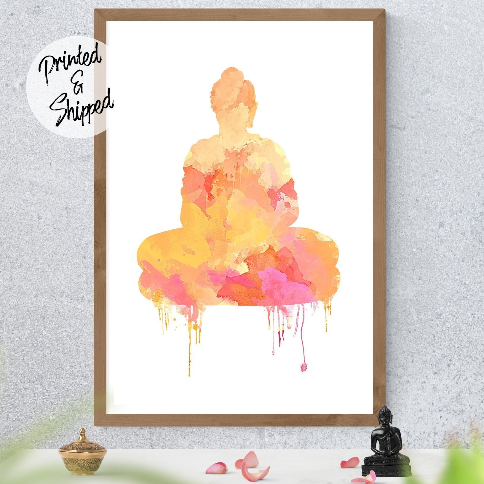 Sacred Buddha Print - Watercolor Buddha Art | Brandless Artist
