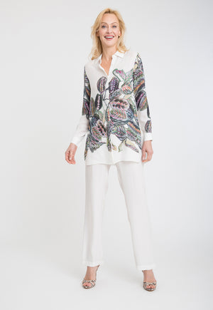 Ala Blouse in Tropical Leaves