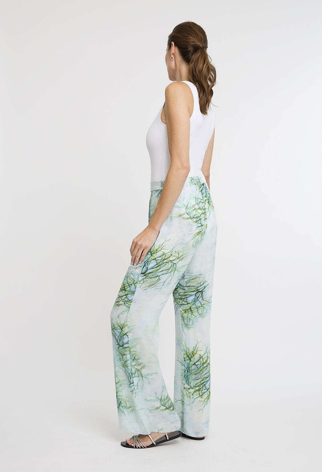 Dora Silk Pant in Tulum
