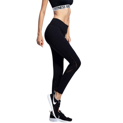 Women's Mesh Legging Pants Long Yoga Pants Sports Workout Tights Trousers - GirlsThingShop