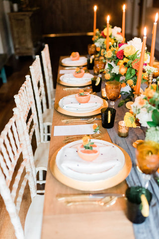 Citrus inspired wedding, Old Homestead Farm Events, Wilmington wedding, floral wedding, classic wedding, wedding tablescape