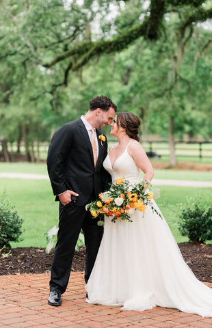 Citrus inspired wedding, Old Homestead Farm Events, Wilmington wedding, floral wedding, classic wedding