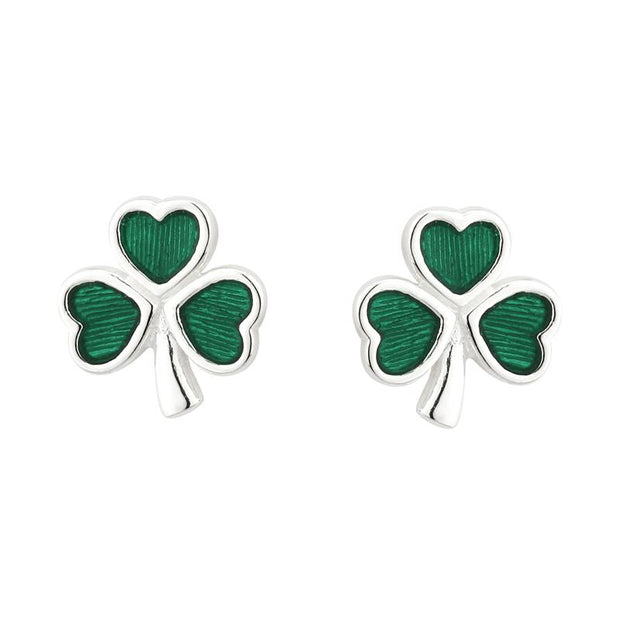 Solvar shamrock green earrings