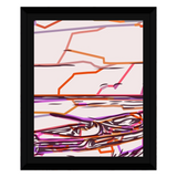 Abstract Life Boat Purple On Pink by Amrita Sen