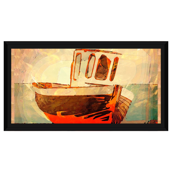 Vintage Boat Red and Orange by Amrita Sen