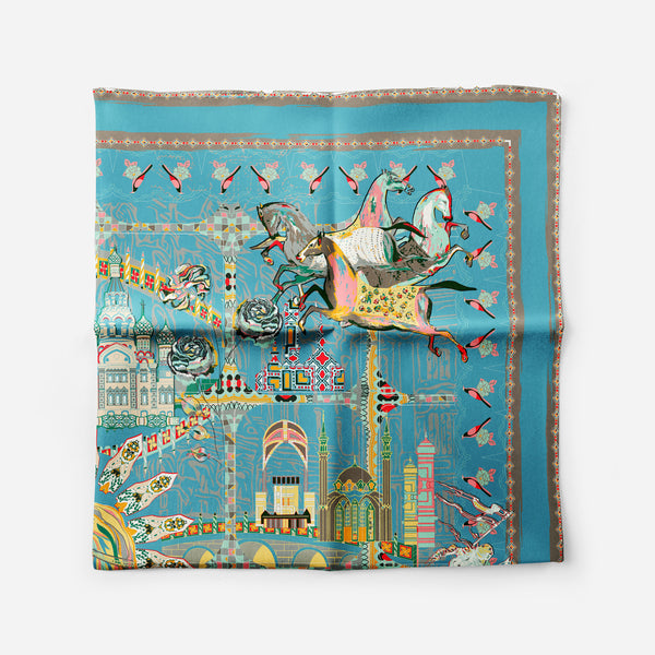 Catherine The Great Blue Empress Collection Silk Scarf