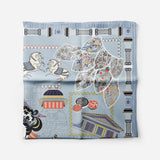 Wu Zetian Light Blue Empress Collection Silk Scarf