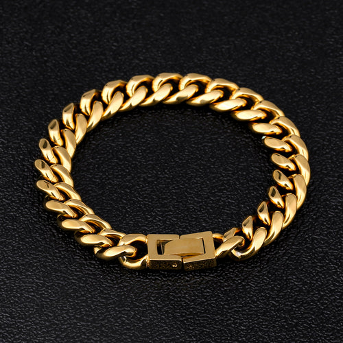 14K Gold Iced Out Cuban Chain and Tennis Chain Set-krkcom