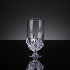 Light Blue Small Flame Water Glass