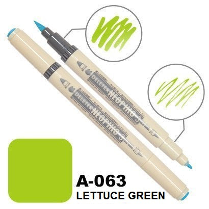 DELETER Neopiko 3 Lettuce Green (A-063) Dual-tipped Water-based Fabric Marker