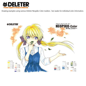 DELETER NEOPIKO-Color Green (C-235) Alcohol-based Dual Tipped Marker