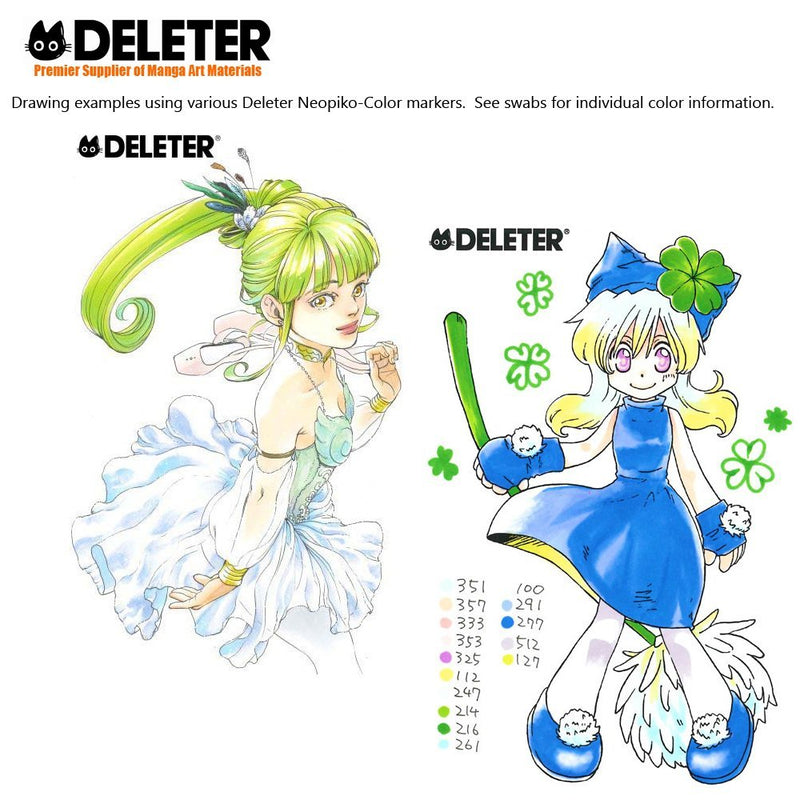 DELETER NEOPIKO-Color Pale Green (C-127) Alcohol-based Dual Tipped Marker