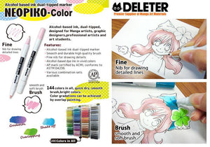 DELETER NEOPIKO-Color Light Purple (C-325) Alcohol-based Dual Tipped Marker