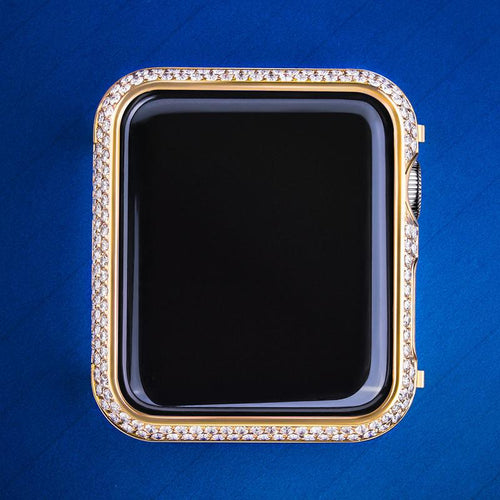 14k Oro Ice Out Watch Cover per Apple Watch Series 4 - KRKC&CO