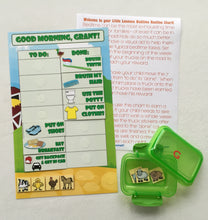 Morning Routine Chart, personalized, FULLY ASSEMBLED, Reward Chart, behavior chart, kids charts, farm themed, reusable chart, laminated