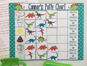 Dinosaur Picture Code Potty Chart, Potty training, reward chart, personalized