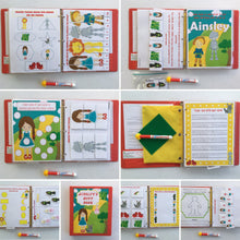 Wizard of Oz Preschool Personalized Busy Book/Quiet Book/ Dry erase/ activity book/ Custom made by age/ Educational toy/ Unique Gift