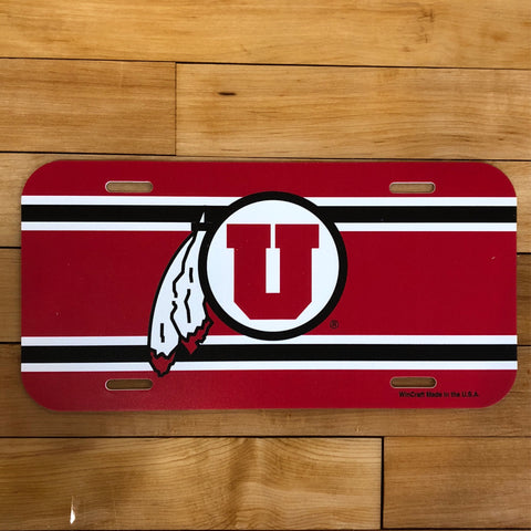 Utah Plastic License Plate Tag - Utah Sports Collective