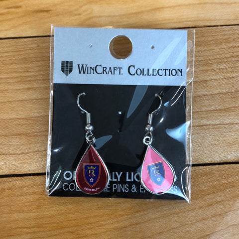 Real Salt Lake Teardrop Earring - Utah Sports Collective