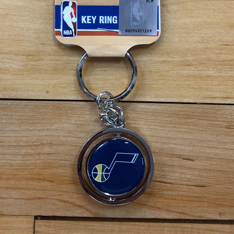 Jazz Blue Spinner Key Chain - Utah Sports Collective