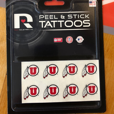 Utah 8pc Tattoo Set - Utah Sports Collective