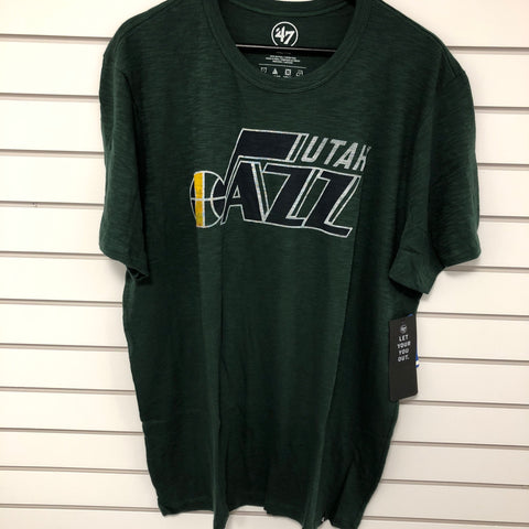 Jazz 47 Brand mens Scrum Dark Green T shirt - Utah Sports Collective
