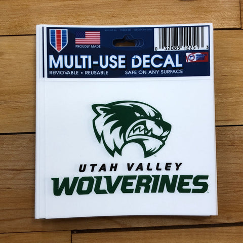"UVU Wolverine Decal 3"" - Utah Sports Collective"