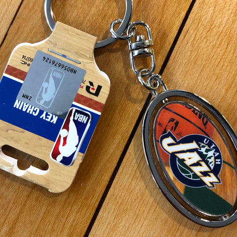Jazz Spinner Key Chain - Utah Sports Collective