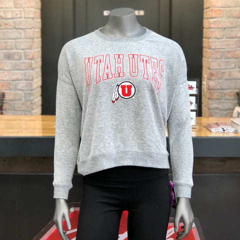 Utah Top Of The World Women's Oxford Cozy Crew