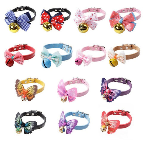 Colors Dog Collar With Bell
