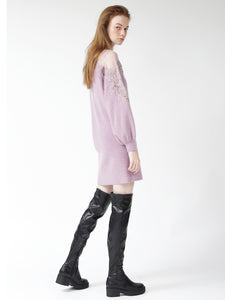 Lace Embroidered Knit Dress (SWNO185035)
