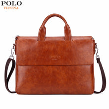 Load image into Gallery viewer, VICUNA POLO Bright Color Men Leather Briefcase For 14'' Laptop