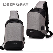 Load image into Gallery viewer, Multi-functional Crossbody Bag Outdoor Casual Anti Theft Chest Bag with USB