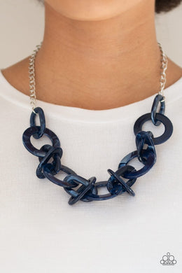 Chromatic Charm - Blue Necklace