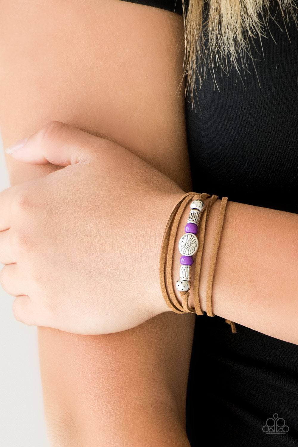 Clear A Path - Purple Urban Bracelet