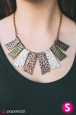 A Fan of The Tribe - Copper  Blockbuster Necklace