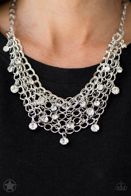 Fishing for Compliments - Silver Blockbuster Necklace