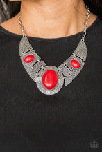Load image into Gallery viewer, Leave Your Land Mark - Red Necklace
