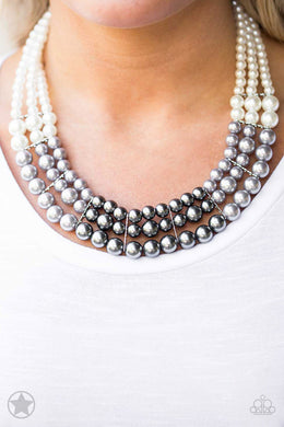 Lady In Waiting - Silver Blockbuster Necklace