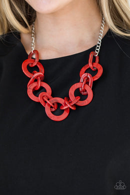 Chromatic Charm - Red  Necklace
